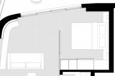 42㎡ 的简约公寓,一道木墙分割了多功能空间图_2