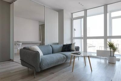 53㎡ 的一室一厅,能打开的卧室让房间瞬间变大