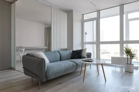 53㎡的一室一厅,能打开的卧室让房间瞬间变大!
