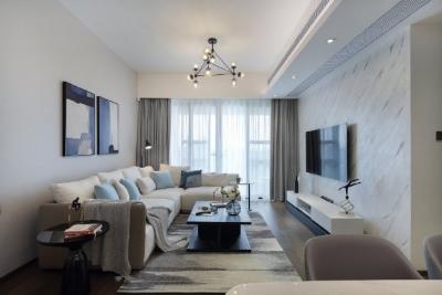 100㎡现代简约风格三居室,合理的空间布局!