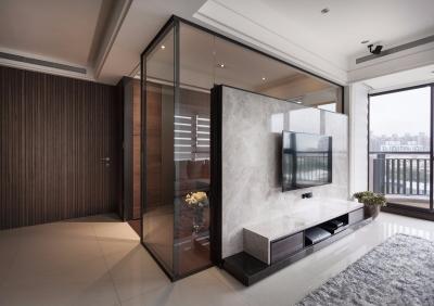 江山樾小区104平现代简约风格装修设计