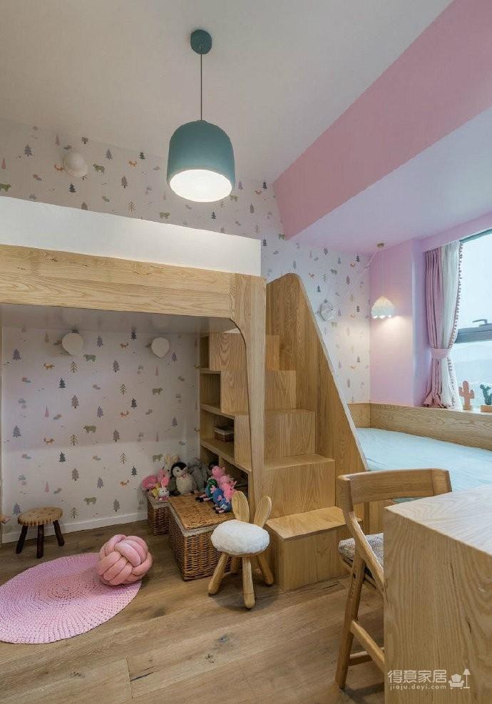 90㎡简约北欧风,沙发墙的造型很有意思,空间氛围清新自然