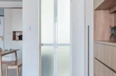 90㎡北欧原木风,原木色+白色,简约美观!全房收纳力好高!图_2
