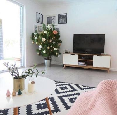 80㎡甜美北欧风,白色空间基调上加入粉色点缀,感觉每天都是甜甜的!
