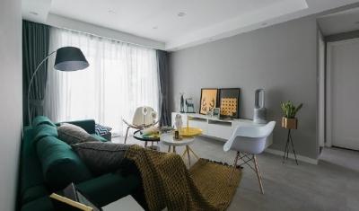 92㎡灰色调北欧风,这样的色彩搭配使得空间感特别优雅有格调!