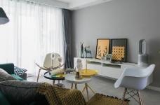 92㎡灰色调北欧风,这样的色彩搭配使得空间感特别优雅有格调!图_1