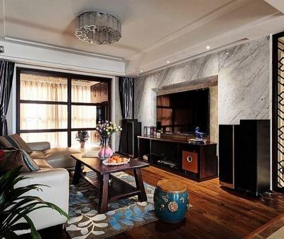 【中式】110平三居三口之家新中式混搭三居室