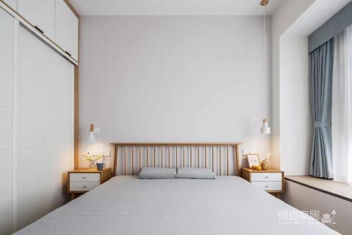 100㎡简约原木风家居装修设计案例,简洁清新舒适感!图_3