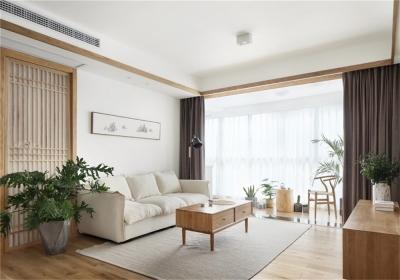 台银城91平三居室日式风格装饰效果图
