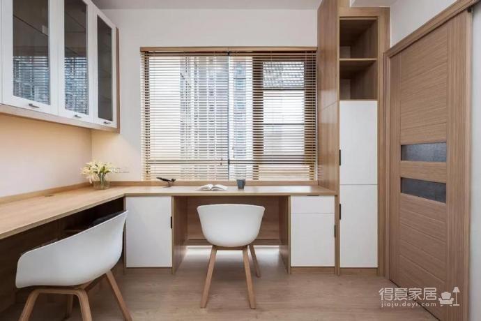 100㎡简约原木风家居装修设计案例,简洁清新舒适感!图_8