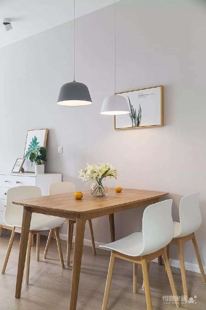 100㎡简约原木风家居装修设计案例,简洁清新舒适感!图_5