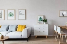 100㎡简约原木风家居装修设计案例,简洁清新舒适感!图_1