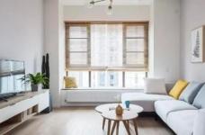 100㎡简约原木风家居装修设计案例,简洁清新舒适感!图_2