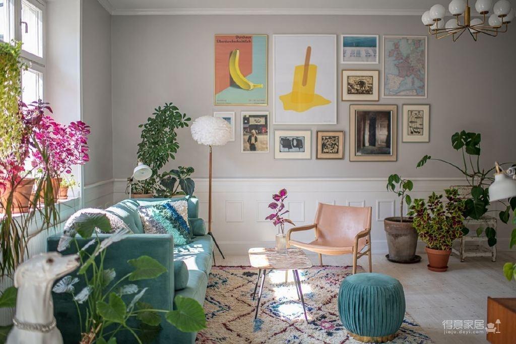 色彩缤纷的植物系美家!生活就该是明媚的样子!