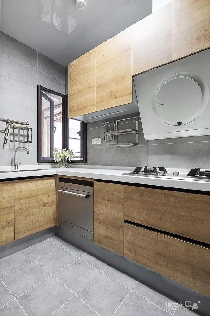 100㎡简约原木风家居装修设计案例,简洁清新舒适感!图_6