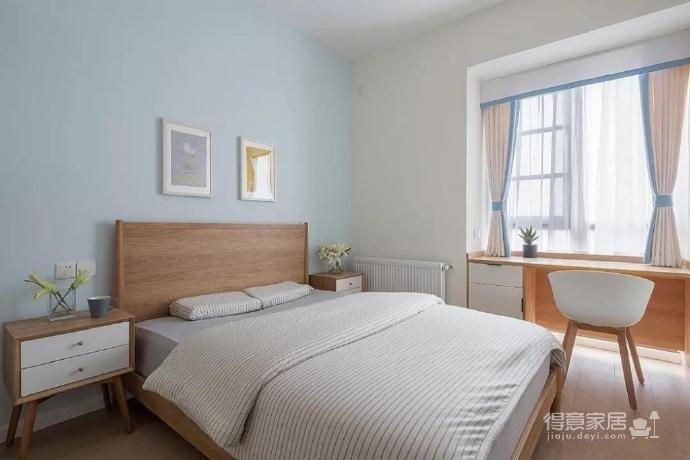 100㎡简约原木风家居装修设计案例,简洁清新舒适感!图_4