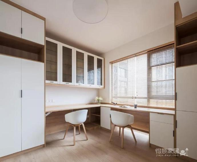 100㎡简约原木风家居装修设计案例,简洁清新舒适感!图_9