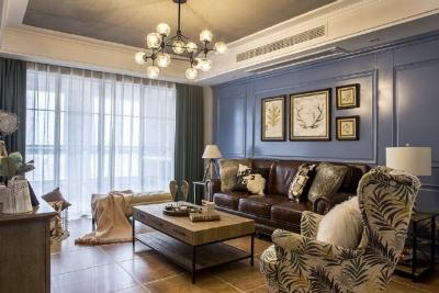 110㎡美式混搭风格家居,复古时尚的摩登气息,酷极了