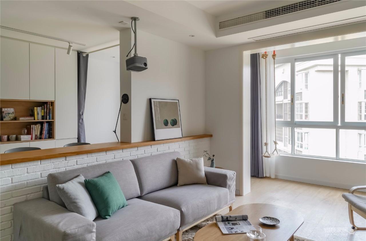 94㎡舒适北欧风格装修,温馨而实用的乐活小筑!图_3