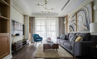 106㎡现代轻奢风格家居设计,造型精致有质感,空间氛围温馨!