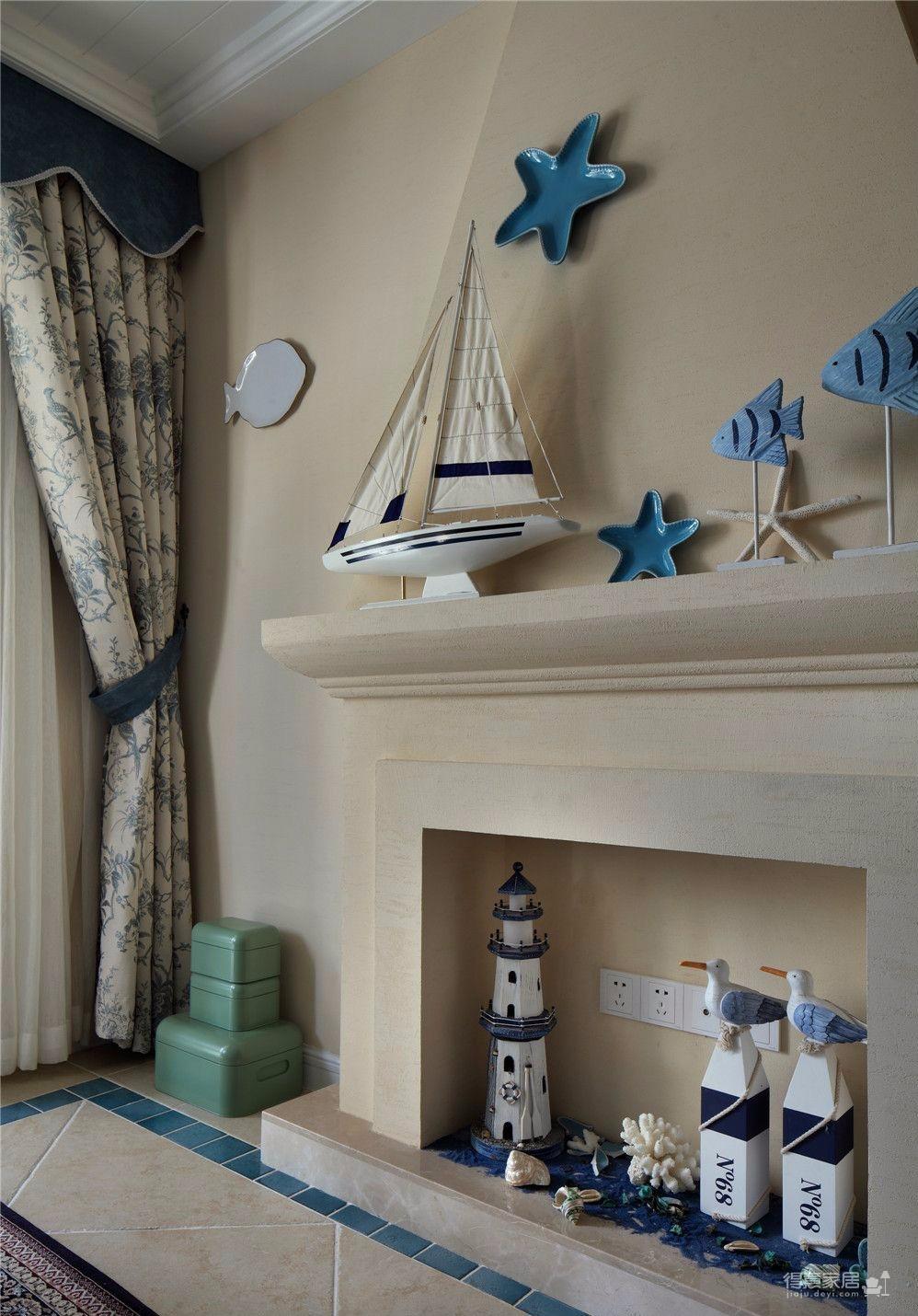 地中海风98㎡三室一厅精选案例
