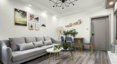62㎡简约北欧风格二居室装修,功能强大的榻榻米设计得很漂亮,整个空间柔和清新!