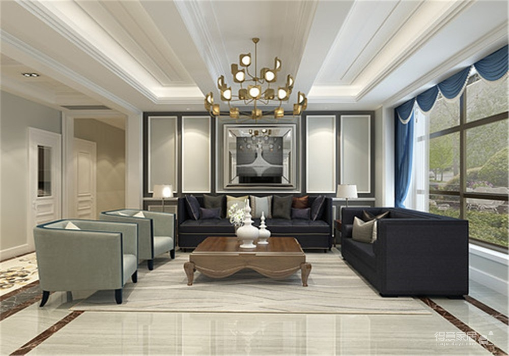 海伦小镇别墅187平五居室古典风格装饰效果图图_1