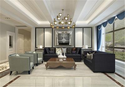 海伦小镇别墅187平五居室古典风格装饰效果图