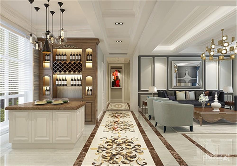海伦小镇别墅187平五居室古典风格装饰效果图图_2