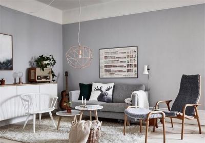 盛景天地美寓95平二居室北欧风格装饰效果图