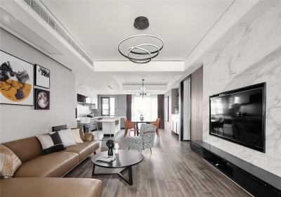 台银城114平三居室现代风格装饰效果图