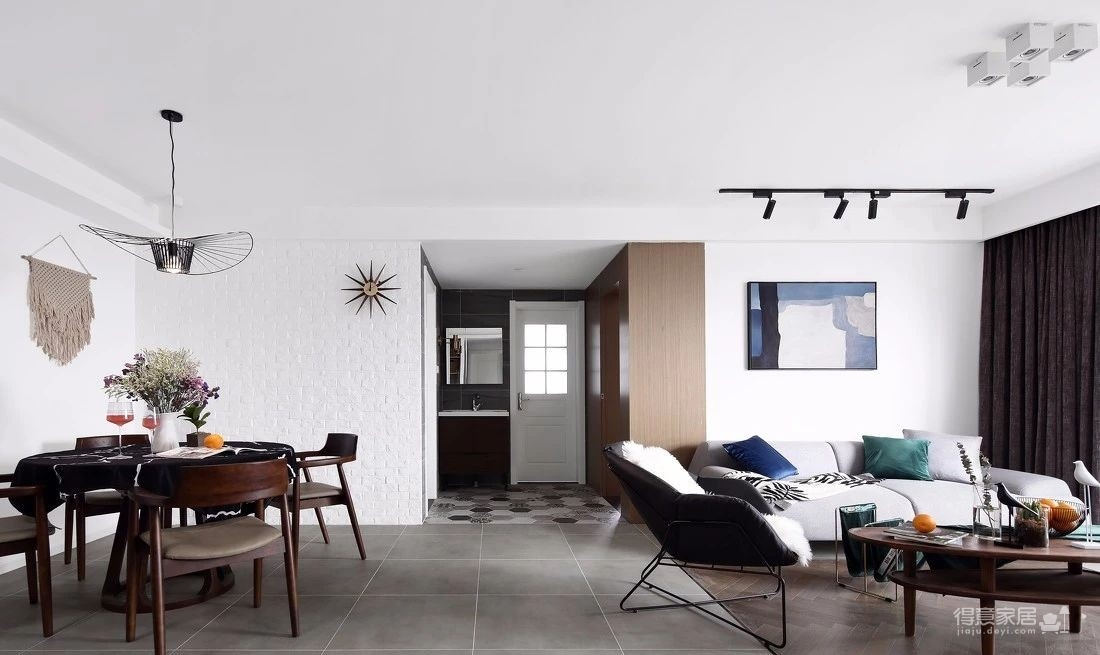 140㎡现代北欧风格装修,简约舒适演绎品质生活!图_5