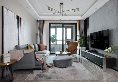 台银城110平三居室现代风格装饰效果图