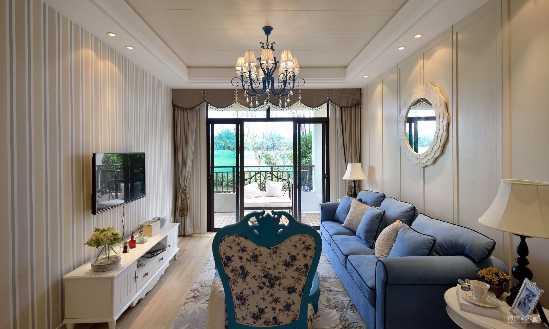三室一厅-地中海风格-超有情调图_3