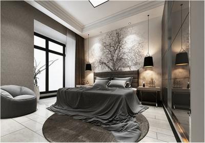 福星惠誉福星华府112平三居室简约风格装饰效果图