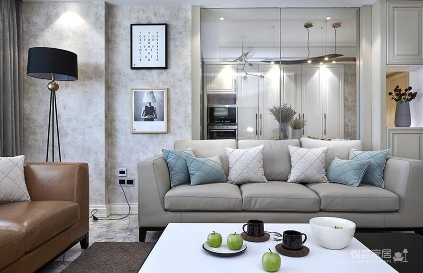 120平现代简约三室两厅装修图_2