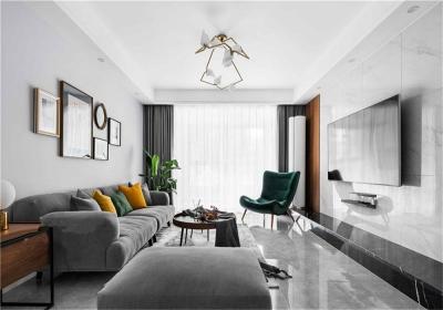 福星华府誉境122平三居室北欧风格装饰效果图