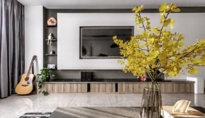 现代简约风格家居装修设计,红与黑的精致空间,看上去非常雅致有格调