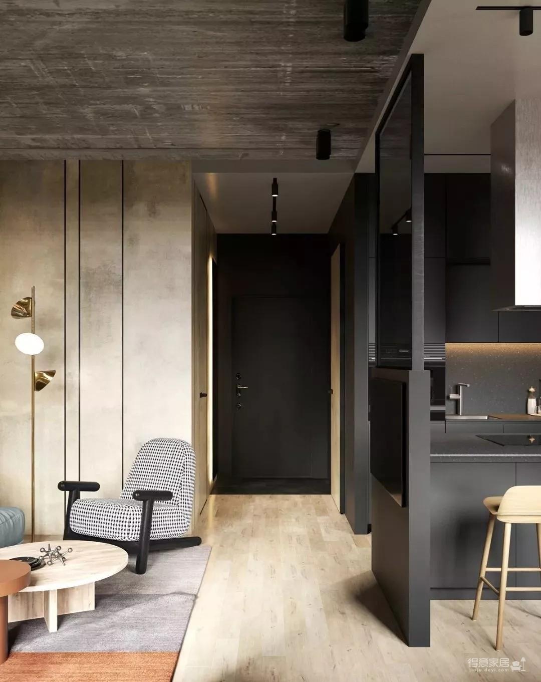 一套56㎡的住宅,设计很厉害,有颜有格调 !