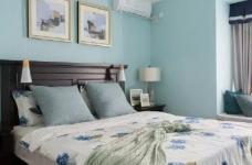 美式风格的装修案例,大面积惬意的蓝,配以唯美不失质感的软装搭配,让家顿时变成一个安心的避风港,将浮华和喧嚣隔绝于门外。图_8