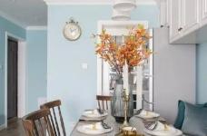 美式风格的装修案例,大面积惬意的蓝,配以唯美不失质感的软装搭配,让家顿时变成一个安心的避风港,将浮华和喧嚣隔绝于门外。图_9