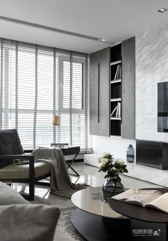 116㎡黑白灰现代风格,简洁造型而不简单!图_5