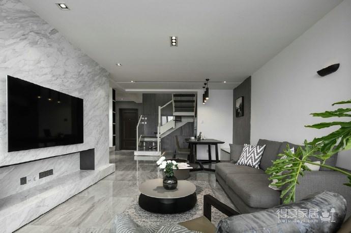 116㎡黑白灰现代风格,简洁造型而不简单!图_3