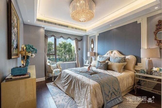 120㎡现代巴黎浪漫法式,蓝灰色的空间色调!图_2