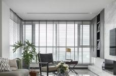 116㎡黑白灰现代风格,简洁造型而不简单!图_1