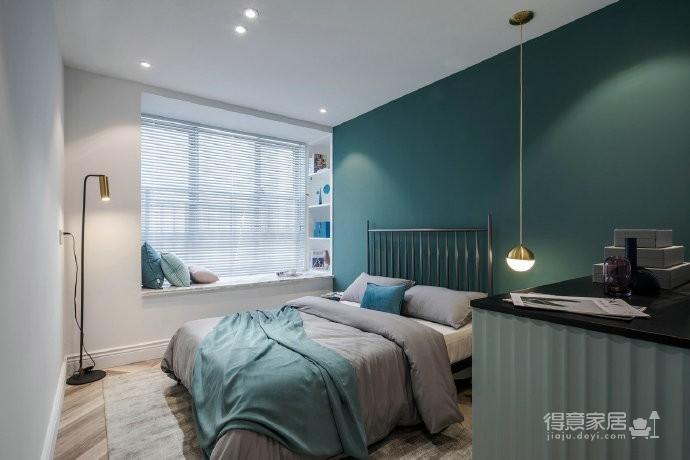 清新文艺的蓝与粉打造的家居装修,漂亮!