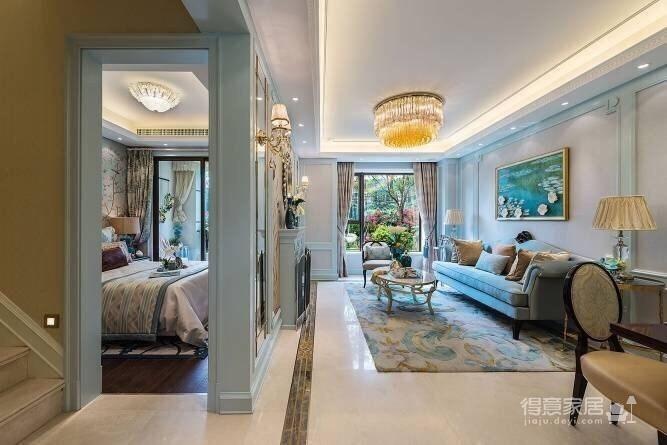 120㎡现代巴黎浪漫法式,蓝灰色的空间色调!图_4