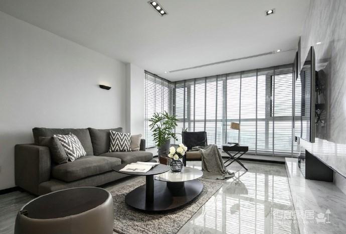 116㎡黑白灰现代风格,简洁造型而不简单!图_2