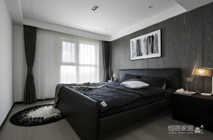 116㎡黑白灰现代风格,简洁造型而不简单!图_7