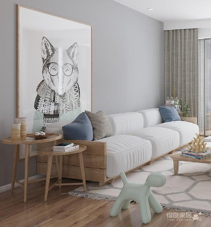 温柔亲和简约风格家居装修设计,空间造型非常干练,色彩搭配特别舒服